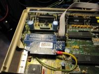 Närbild på Monterad Indivision ECS v2 i Amiga 500